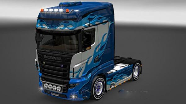 Scania R700 Blue Flame Skin