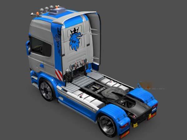 Scania Streamline Blu Skin
