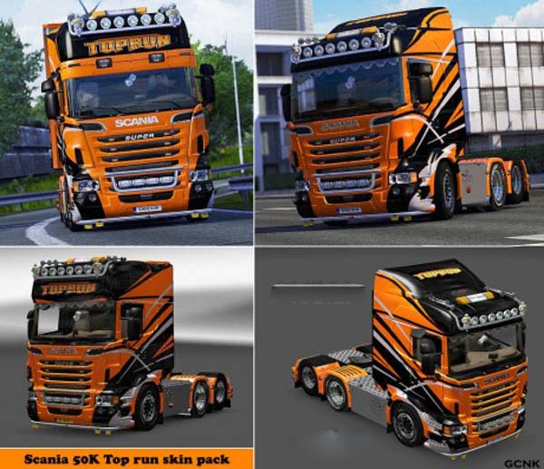 Scania Top Run Skin Pack