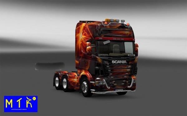 Skin Scania Fire Effect