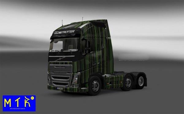 Skin Volvo FH 2012 Green Stripes