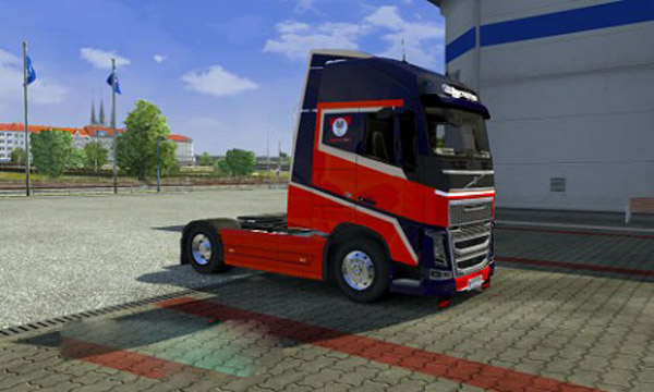 Volvo Blue Red skin