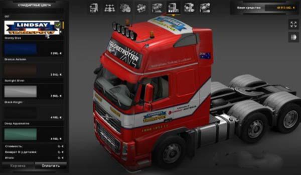 Volvo FH 2009 Lindsay Transport Skin
