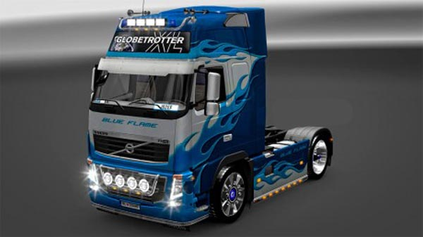 Volvo FH Blue Flame skins