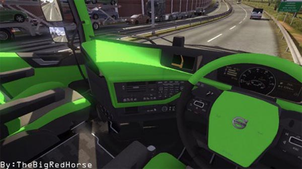 Volvo FH16 2012 Lime green and Black Interior