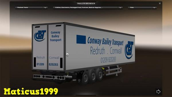 Conway Bailey Transport Trailer