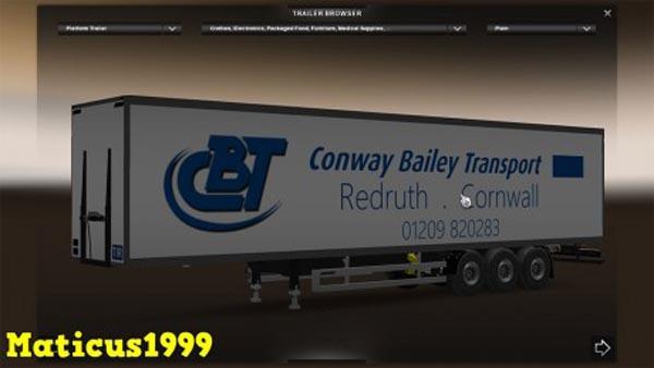 Conway Bailey Transport Trailer