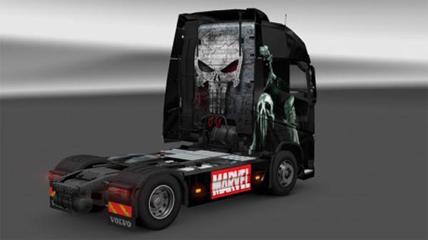 Punisher skin for new Volvo