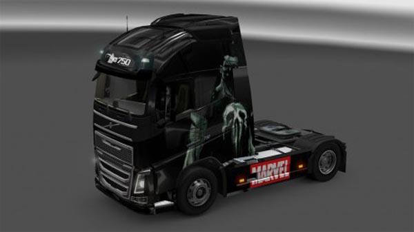 Punisher skin for new Volvo
