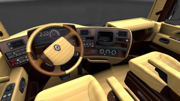 Renault Magnum Wood Interior