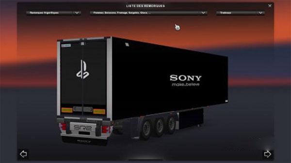 SONY & PlayStation Trailer Skin
