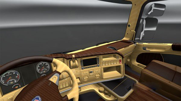 Scania R Wood Interior