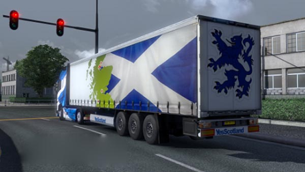 Scotland Rampant Lion Trailer