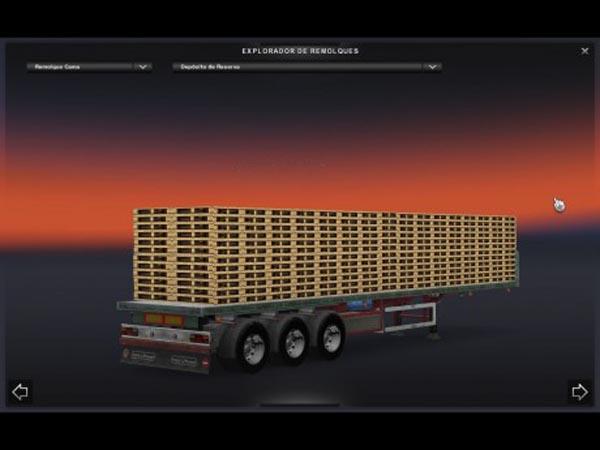 Wooden Pallets trailer