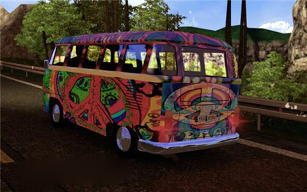 AI Traffic VW T2 Hippie Mobile