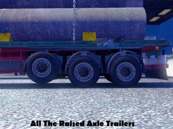 All The Raised Axle Trailers