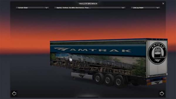 Amtrak Trailer