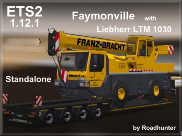 Faymonville Megamax 4 axes Trailer with Liebherr LTM 1030
