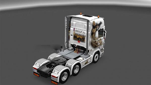 Help For heroes Scania R 2008 Skin ANY COLOR