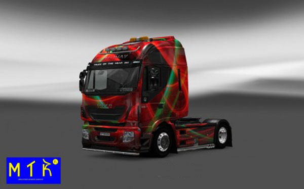Iveco Hi Way Red Effect Skin