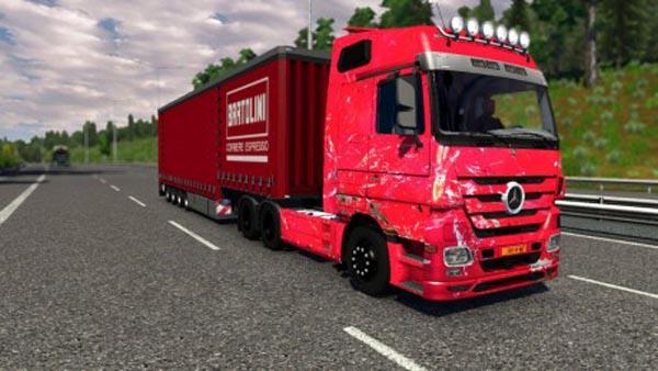 Mercedes Actros Smashed Skin