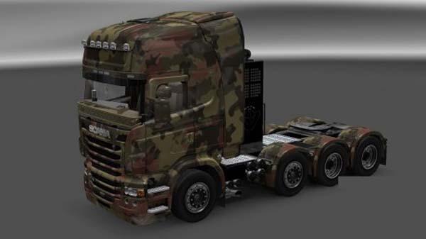 Scania R Army Skin