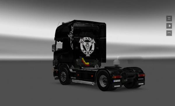 Scania series 4 Griffin skin (black)