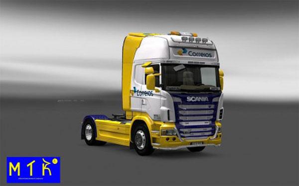 Skin Scania Correios New