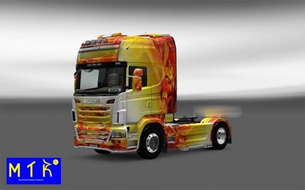 Skin Scania Flame