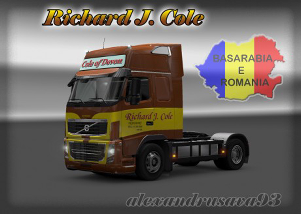 Volvo FH 2009 Richard J.Cole Skin
