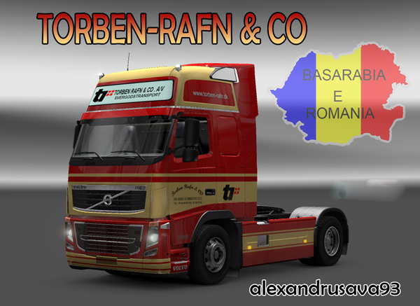 Volvo FH 2009 Torben Rafn & Co Skin