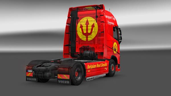 Volvo FH 2012 Belgian Red Devils Skin