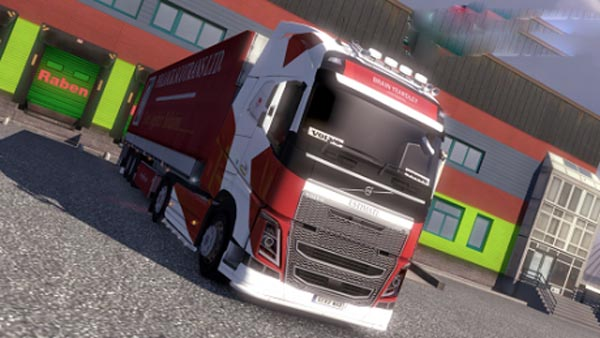 Volvo FH 2012 Brian Yeardly Continental Skin