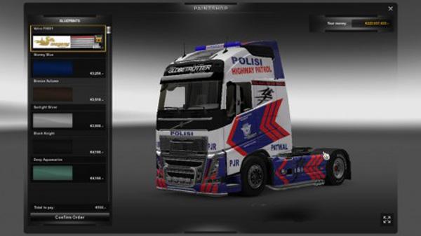 Volvo FH 2012 Police Skin