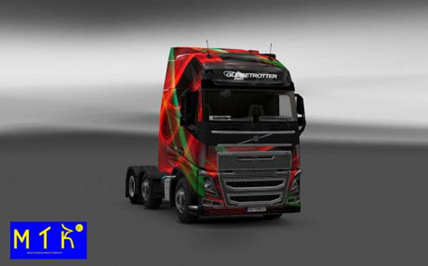 Volvo FH 2012 Red Effect Skin
