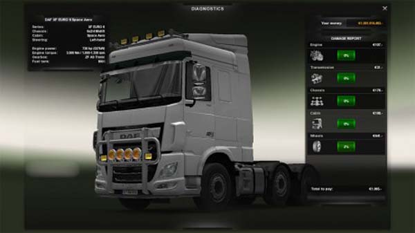 730 HP Mod for DAF Euro 6