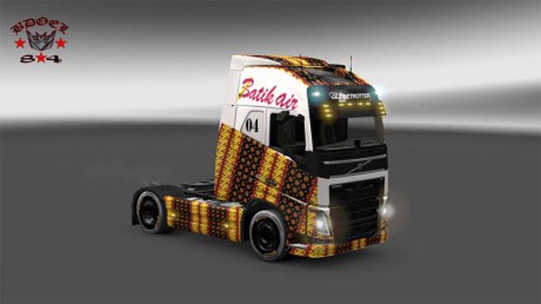 Batik airline from Indonesia
