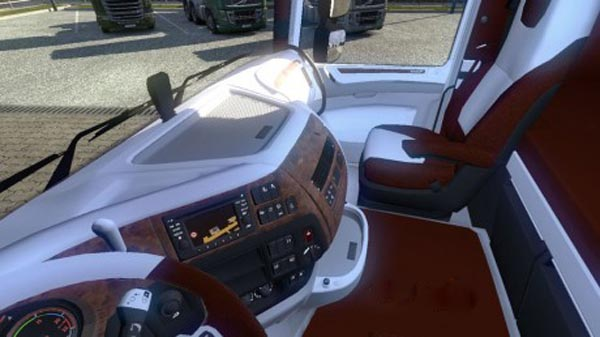 DAF XF Euro 6 Brown White Interior