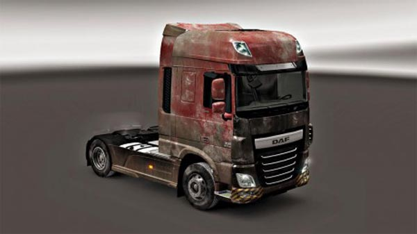 DAF XF Euro6 dirt skin