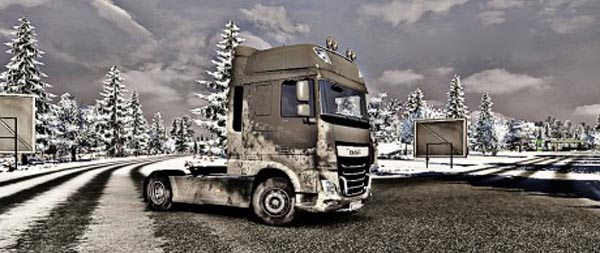 DAF XF Euro6 dirty snow skin