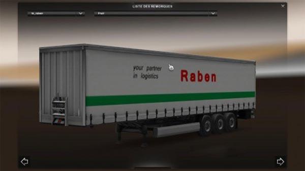 DAF XF Raben Skin + Trailer