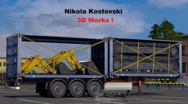 Excavator Cargo Trailer