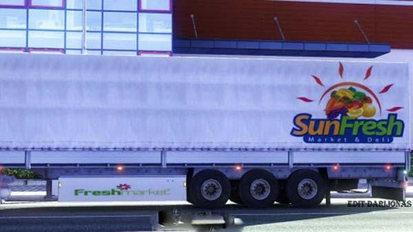 Frech market trailer