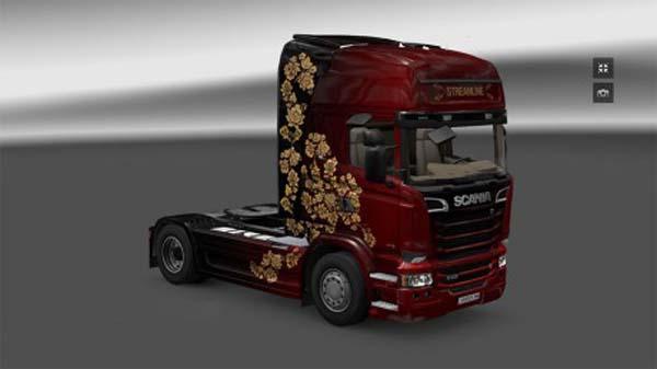 Khokhloma painting Scania Streamline