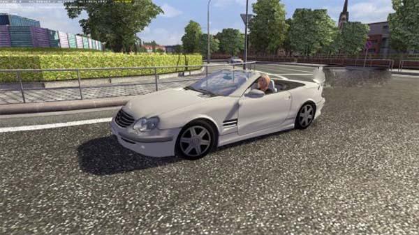 Mercedes Benz Cabrio AI Traffic Car