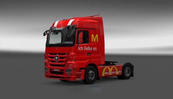 Mercedes McDonalds Paintjob