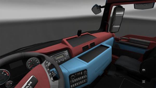 Red and Blue Theme Interior for the Man TGX