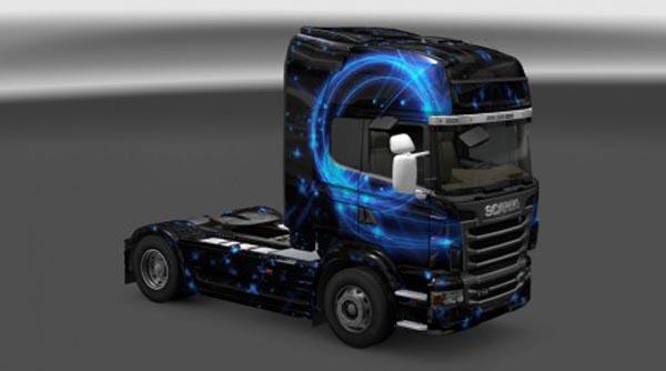 Scania R Blue Flame Skin
