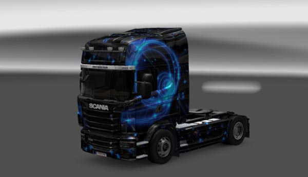 Scania R Blue Flame Skin