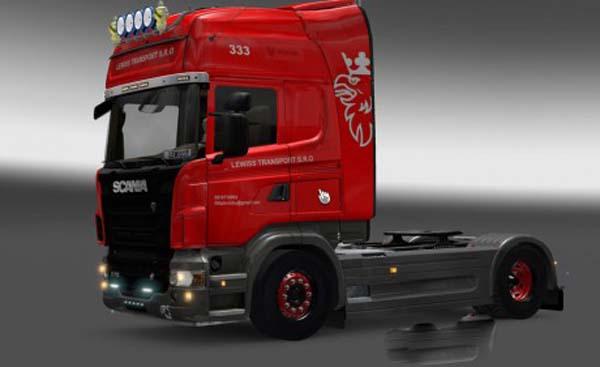 Scania Red Black Wheels